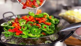 18人分のイカと余り野菜の炒めを一気に作る調理動画【まかない】Stir-fried squid leftover vegetables for 18 people