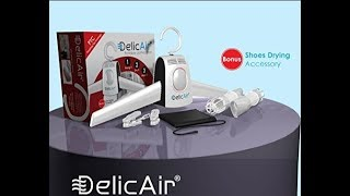 DelicAir Portable Dryer, Clothes Hanger and Shoe Dryer