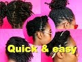 5 Quick lazy day hairstyles on old mini twists [NATURAL HAIR] ✔️Jah-nette