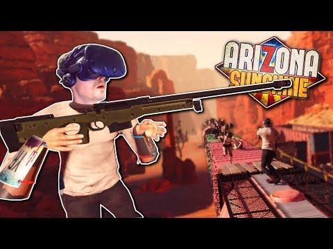 SNIPING ZOMBIES! - Arizona Sunshine Gameplay - VR Zombie Survival Game
