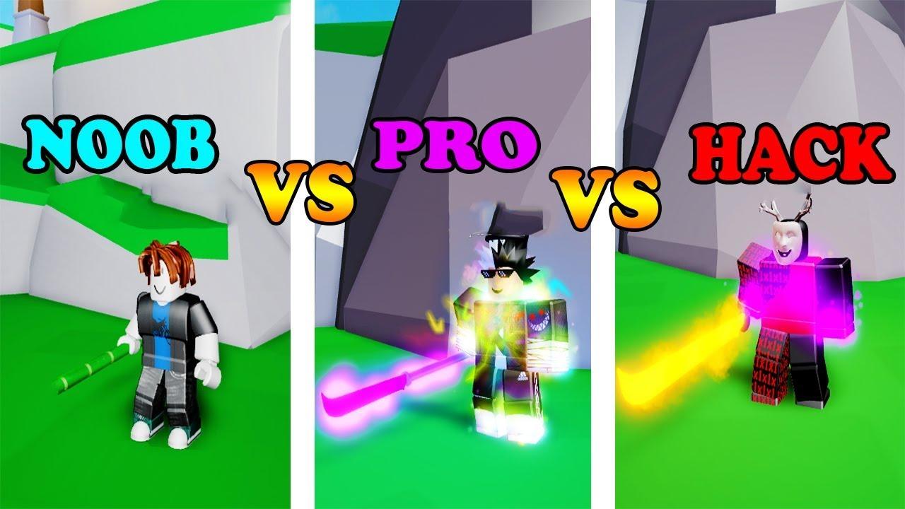 Noob Vs Pro Vs Hacker No Ninja Legends Roblox Youtube