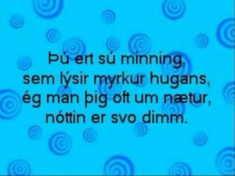 Jóhanna Guðrún - Nótt (lyrics)