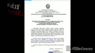 Pengumuman Hasil Seleksi TKD Pegawai Non PNS Pemprov Yogyakarta 19 Des 2017