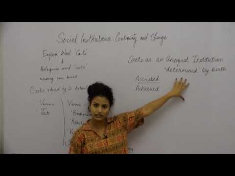 Social Institutions: Continuity & Change _ Part1 _ Introduction-1 _ Swati Chakravorty