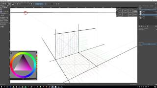 Perfect square in perspective - How to draw it in Krita (tutorial)