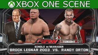 WWE 2K15 XBOX ONE GAMEPLAY - Brock Lesnar vs Randy Orton I WWE RAW