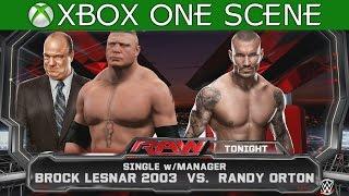 WWE 2K15 XBOX ONE GAMEPLAY - Brock Lesnar vs Randy Orton I WWE RAW