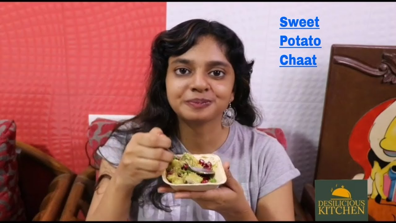Sweet Potato Chaat Recipe | Vrat Special Shakarkandi Chaat