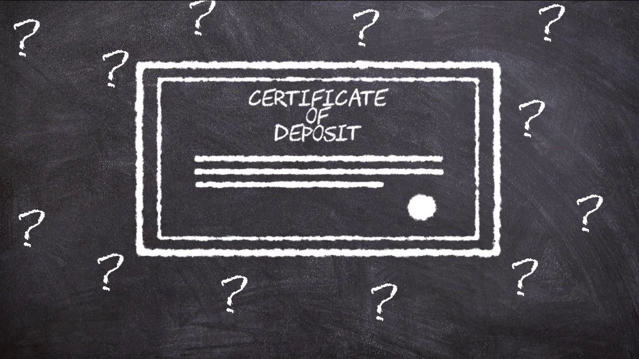 Money Its Personal What Is A Certificate Of Deposit Youtube