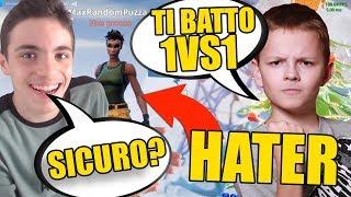 """UN """"HATER"""" BAMBINO MI INSULTA E MI SFIDA IN 1VS1!! LO BATTO E LUI...."""