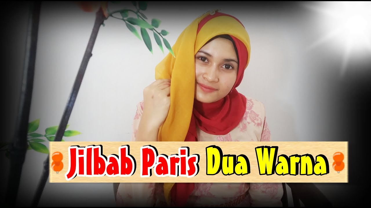 Tutorial Jilbab Paris Segi Empat Dua Warna By Nica 196 YouTube