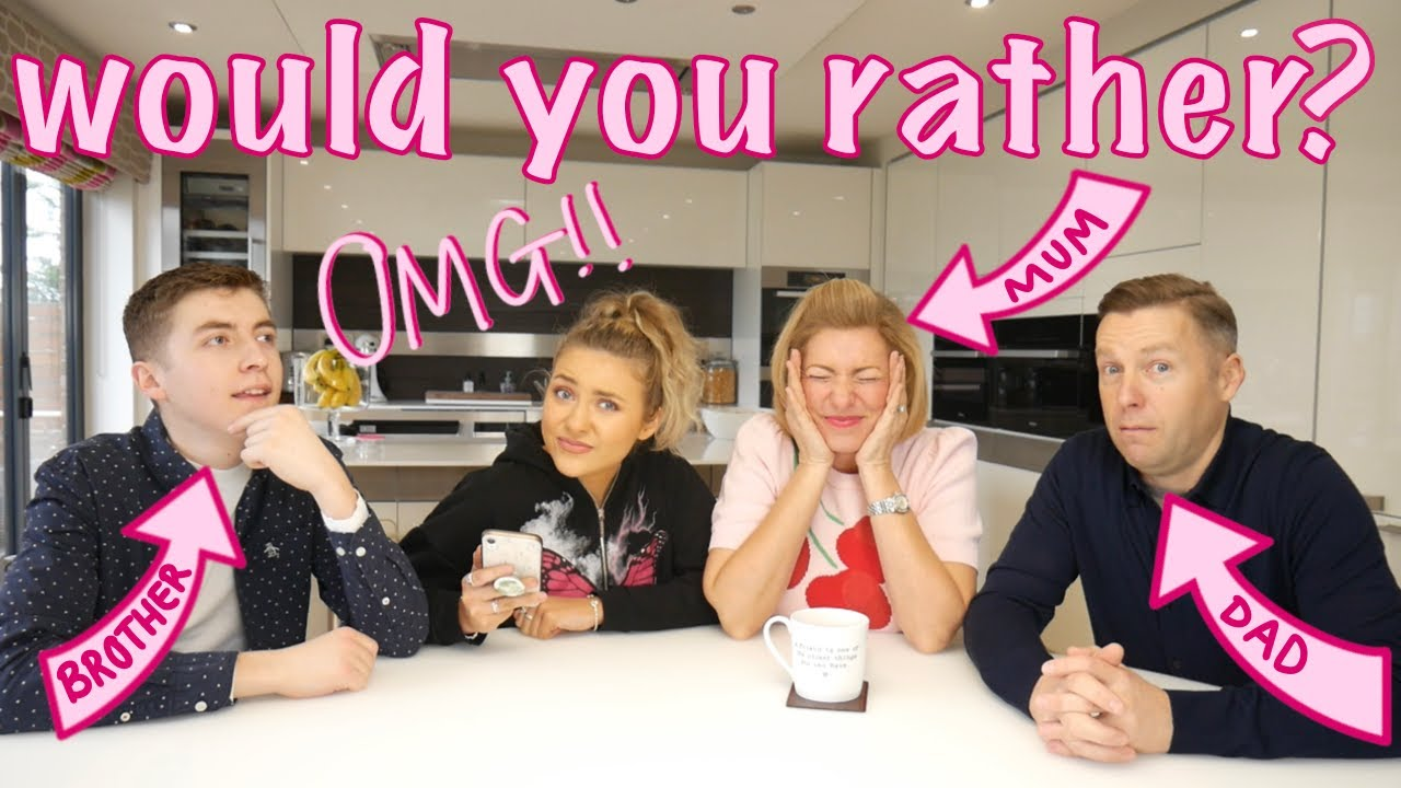 *hilarious* WOULD YOU RATHER with my FAMILY