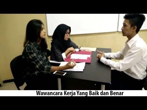 Contoh Video Wawancara Kerja Yang Baik dan Benar