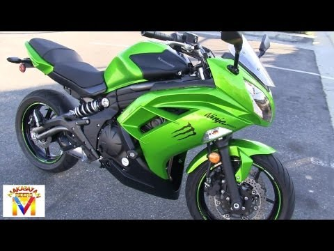 Kawasaki Ninja 650R Drive by & Revving - Two Brothers Full Exhaust