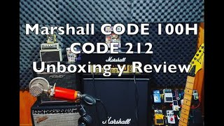 Marshall CODE 100H y CODE 212 UNBOXING Y REVIEW (PARTE 1)