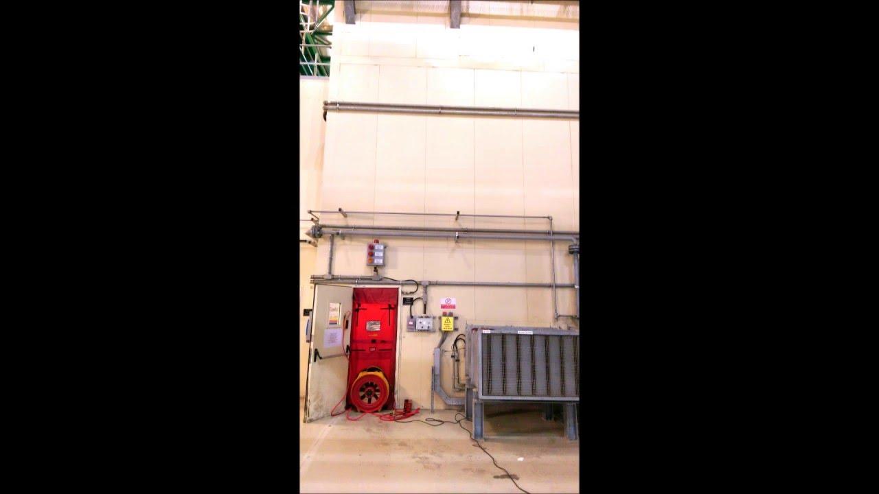 Extended Discharge - Door Fan Test & Extended Discharge - Door Fan Test - YouTube