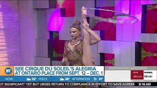 Cirque du Soleil acrobat performs at BT!
