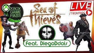 PIRATAS AO VIVO - VAMOS PARA O MAR EM SEA OF THIEVES - AS LENDAS PIRATAS no XBOX ONE!