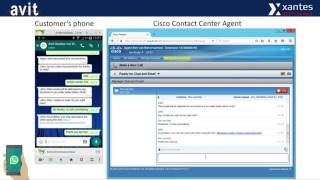 The ChatFactory demo video - Integration WhatsApp in Cisco Contact Center (Avit Xantes)