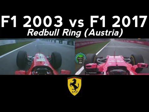 F1 2003 Vs F1 2017 - Redbull Ring (Austria) - V10 Vs V6
