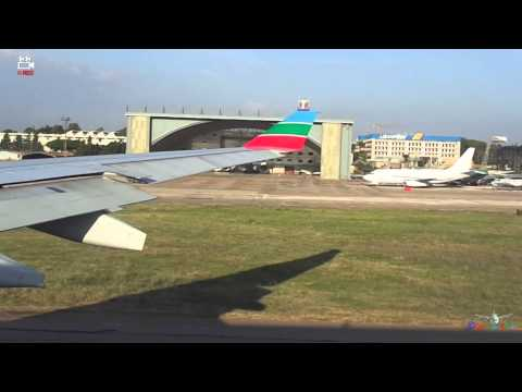 Middle East Airlines MEA Beirut-London Taxi + Take Off A330 HD 2014