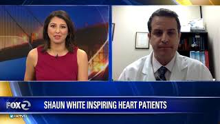shaun white inspires heart patients