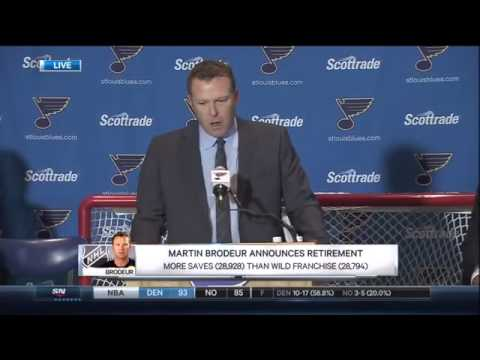 Martin Brodeur Announces His Retirement. Press Conference. January 29th 2015. (HD)