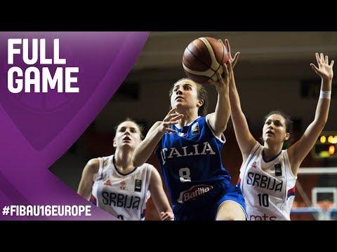 Serbia v Italy - Full Game - FIBA U16 Women's European Championship 2017