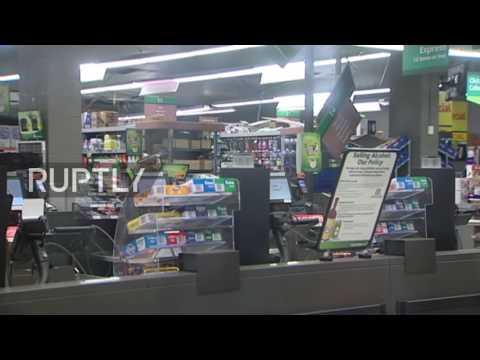 New Zealand: Supermarket damaged in Wellington after 7.8M earthquake