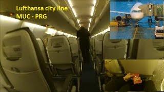 Lufthansa city line Full Flight review from Munich MUC to Prague PRG LH 1694 + S - Bahn from city