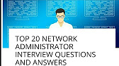 656 - Network Administrator Interview Questions And Answers