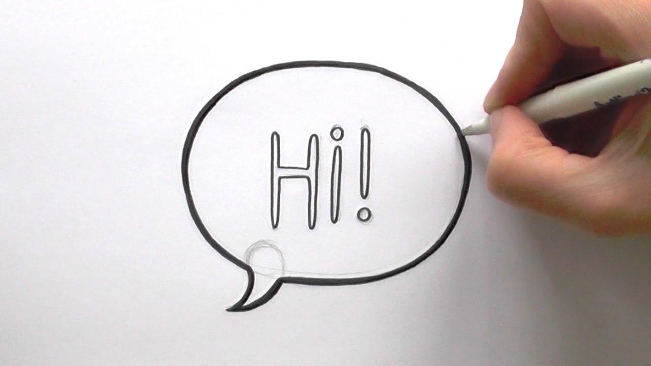 How to Draw a Cartoon Speech Bubble - YouTube