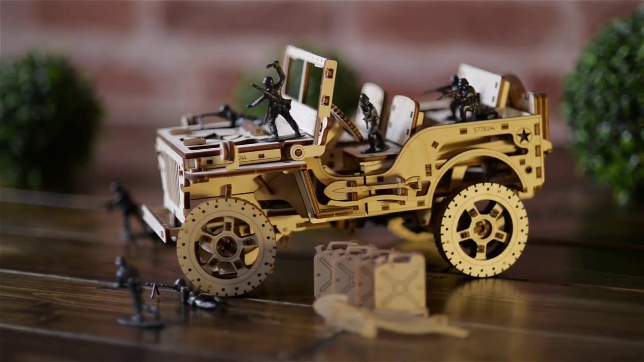 4x4 Jeep Mechanical model by WOODEN CITY