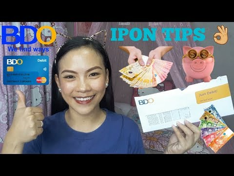 How To Save 💰 | How To Open A Debit Card In BDO 💳