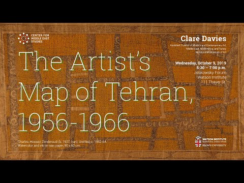 Clare Davies – The Artist's Map of Tehran, 1956-1966