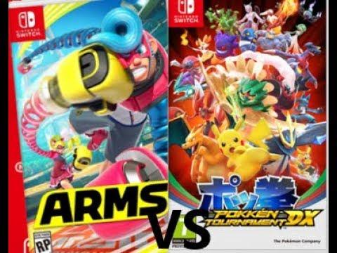 Game VS Game ARMS VS Pokken Tournament DX