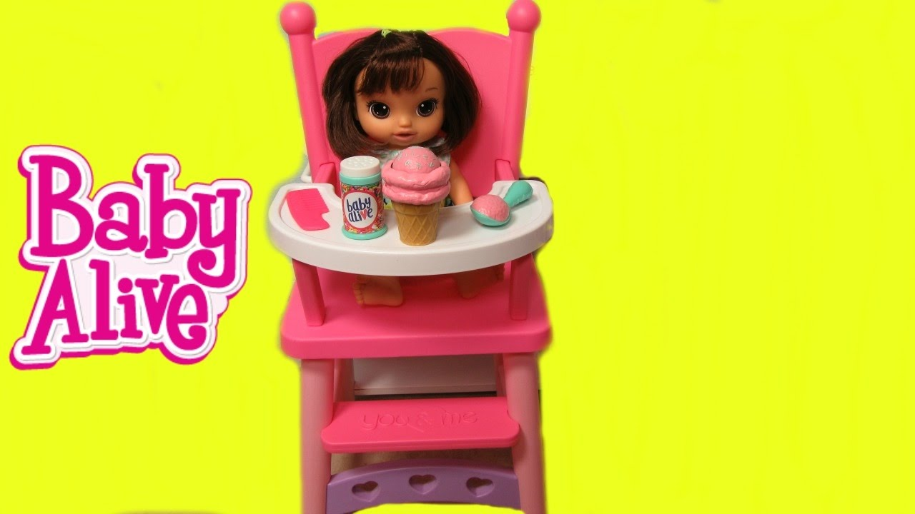 Baby Alive Magical Scoops Baby Doll Unboxing Feeding