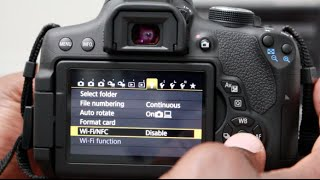 How To Connect Canon WiFi Camera to Smartphone T6i And Canon Connect App