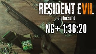 Resident Evil 7 - New Game+ Speedrun in 1:36:20 [Personal Best]