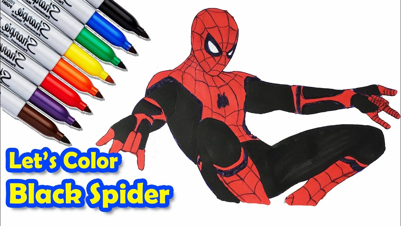Spider Man Far From Home Second Action Coloring Pages Sailany Coloring Kids