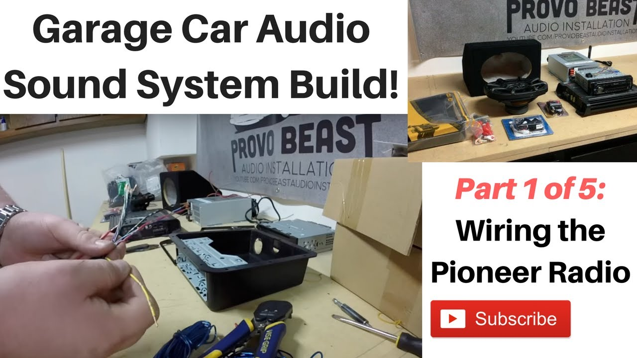 Building A Garage Audio System Part 1 Wiring The Radio Youtube Diagram For Car Deck