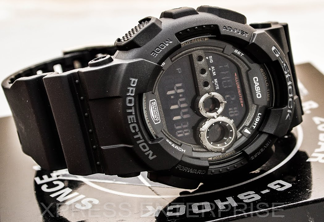 9d2e44ea7 Casio GSHOCK GD100-1B REVIEW | How To Set Time | LIGHT DISPLAY - YouTube