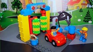Видео для детей с игрушками - Автосервис и Мойка машинок.