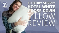 eLuxury Hotel White Goose Down Pillow Review - Most Luxurious Pillow!