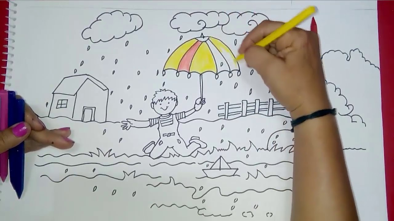How To Draw Girl In Rain