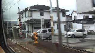JR日豊本線  車窓  亀川駅~別府駅(883系0番台ソニック特急)130km/h運転!!
