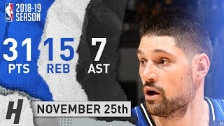Nikola Vucevic Full Highlights Magic vs Lakers 2018.11.25 - 31 Pts, 7 Ast, 15 Rebounds!