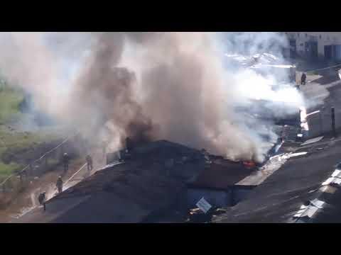 видео: В Твери горит бывшая овощная база, 10 июня 2019