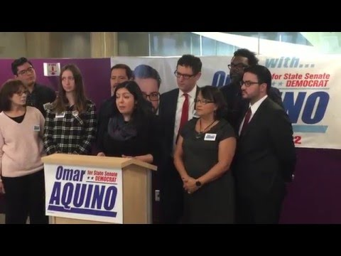 Jaqueline Rodriguez, HCII Vice-President, Endorses Omar Aquino for Illinois Senate 2nd District