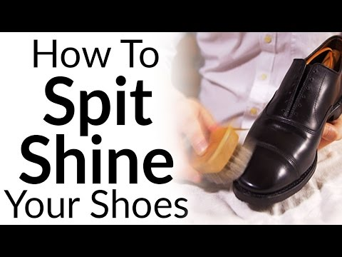Clean Condition & Polish A Dress Shoe | Spit Shining Formal Footwear | Shine Shoes Like A Marine